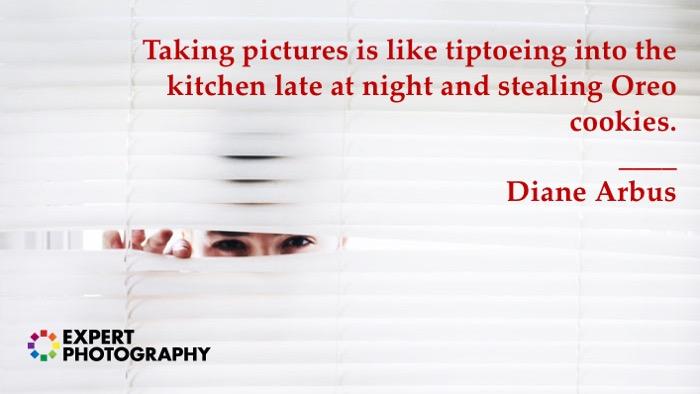 Citações da fotografia de Diane Arbus