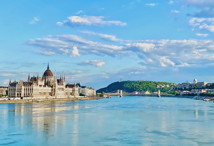 photo of the Hungarian Parliament and the river Danube