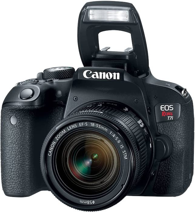 The Canon T7i, one of the best cameras for product photography