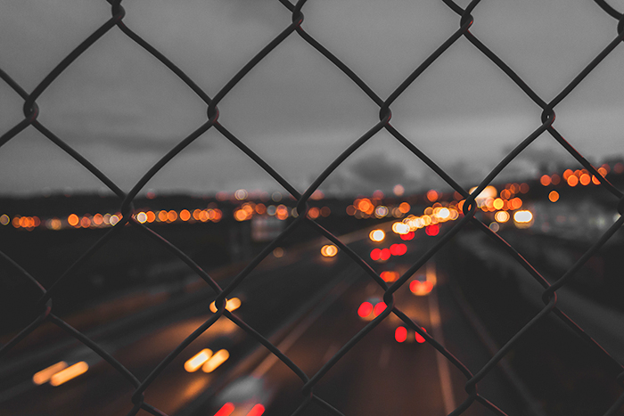 Highway Bokeh at Night with Fast Aperture
