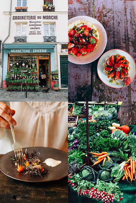 Four photo grid of fresh food photography by La Tartine Gourmande