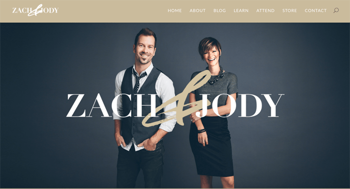 Screenshot of Jack and Jody photography blog homepage