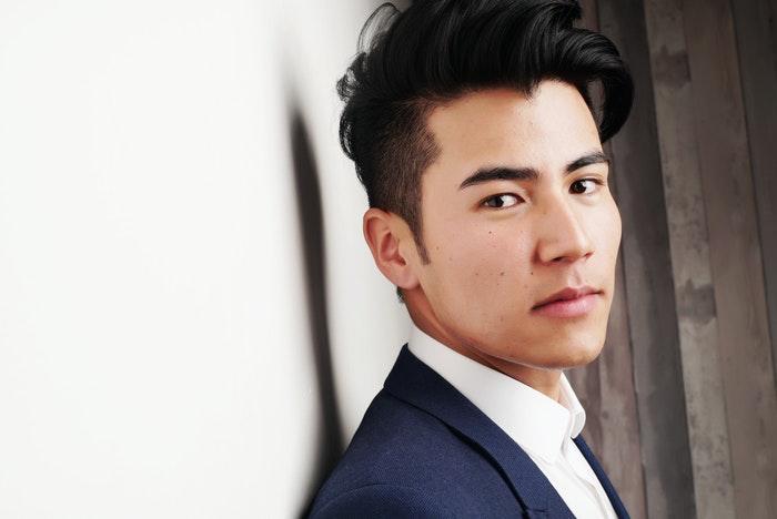 A male model posing