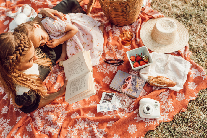 A dreamy overhead picnic photo