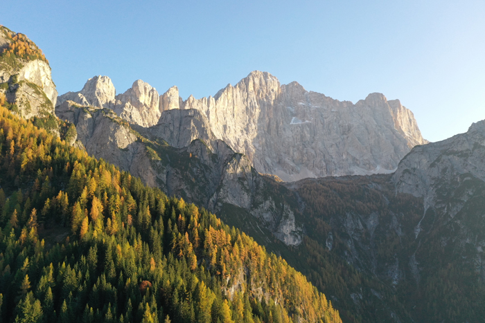 Mountainous landscape scene on a sunny day
