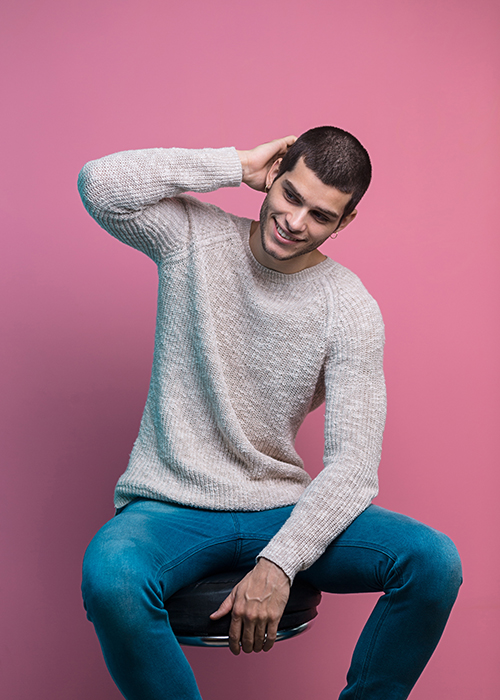 Fashion portrait photography of a young man.