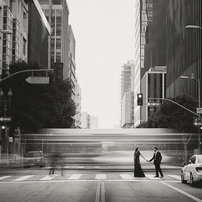 Imagem de rua em preto e branco do curso Fstoppers Introdução ao Lightroom