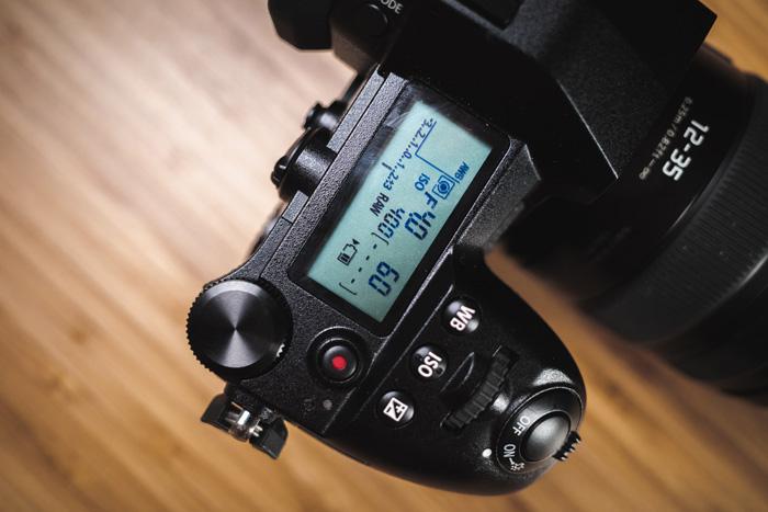 Camera settings on a DSLR