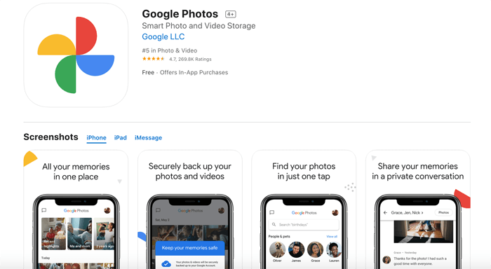 A screenshot of google photos