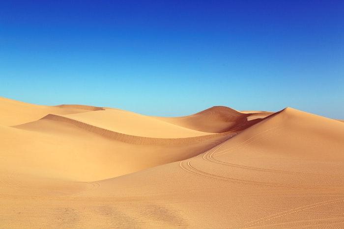 Pristine desert landscape