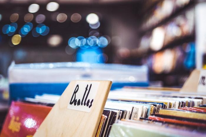 Uma capa de álbum da loja de discos