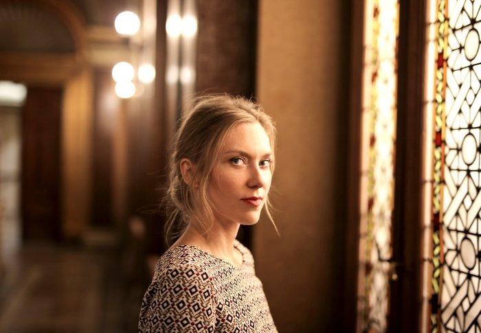 Selective focus portrait of a woman