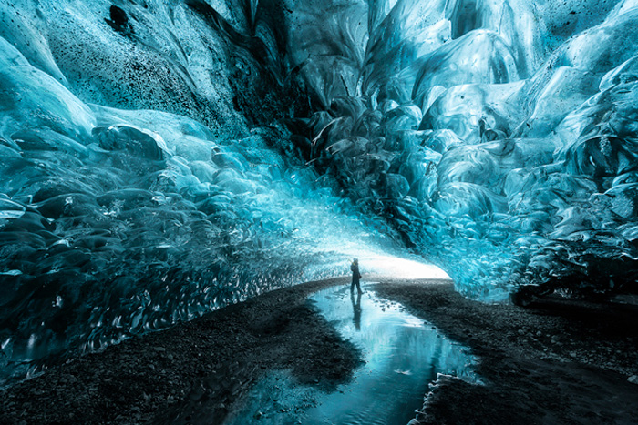 Stunning ice cave from Fstoppers 'Photographing the World 1' Landscape Photography Course