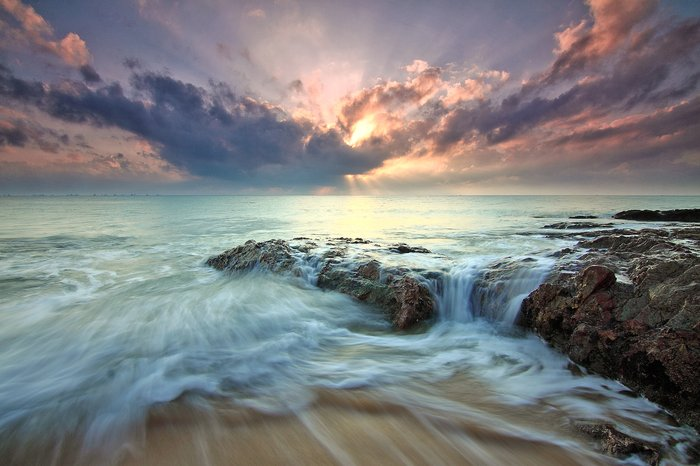 A long exposure seascape