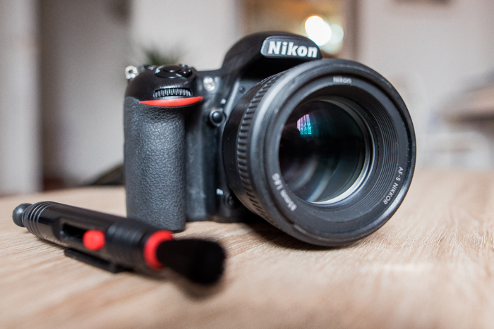 a clean Nikon DSLR lens
