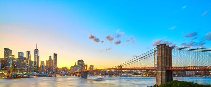 panorama photo of a bridge and a cityscape