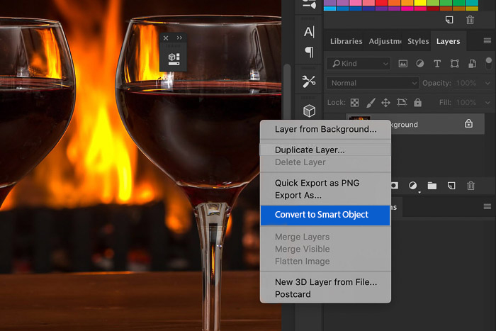 screenshot of editing an image in photoshop