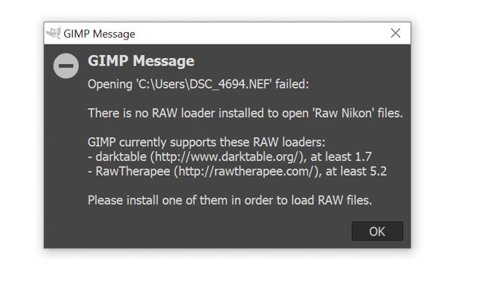 screenshot of an alert to install raw loader