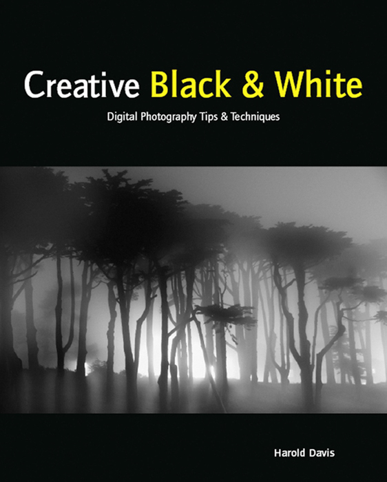 The cover of 'Creative Black and White' photography book by Harold Davis