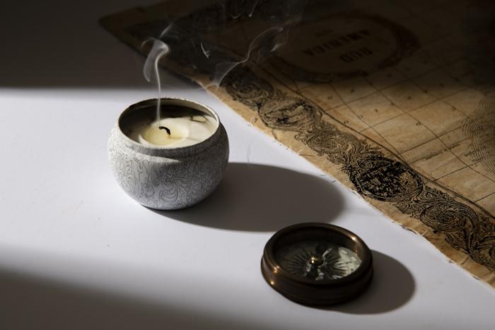 Técnicas para fotografiar humo o vapor: Estelas de humo de una vela