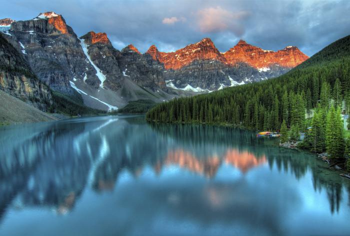 Impressionante paisagem montanhosa