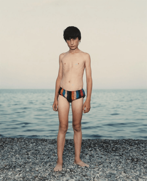 A young boy on the beach