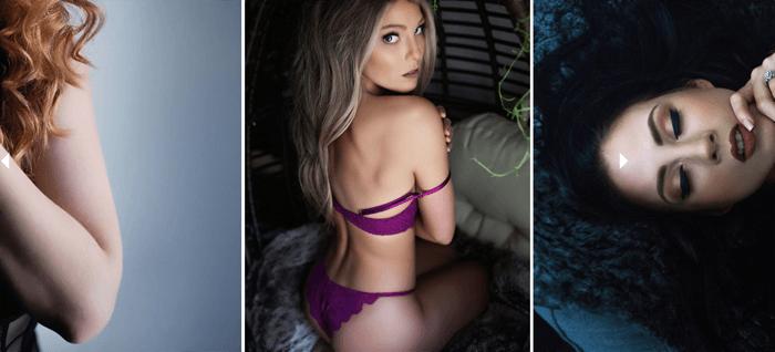 boudoir photography triptych