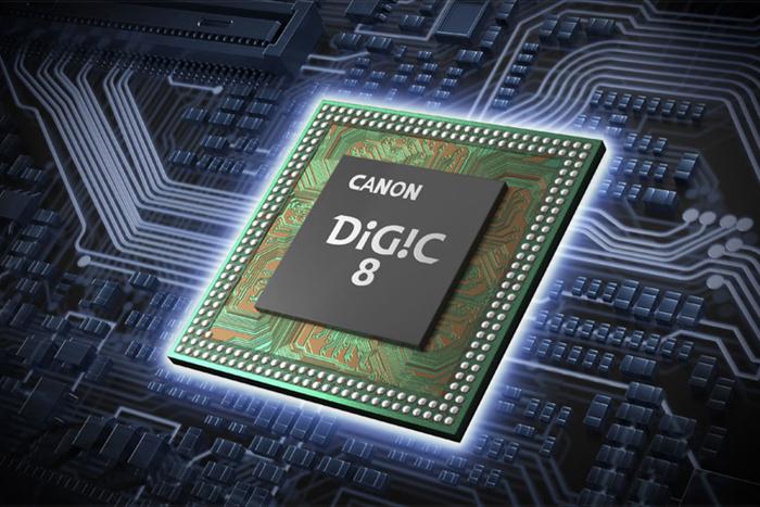 कैनन DIGIC 8 चिप का ग्राफिक