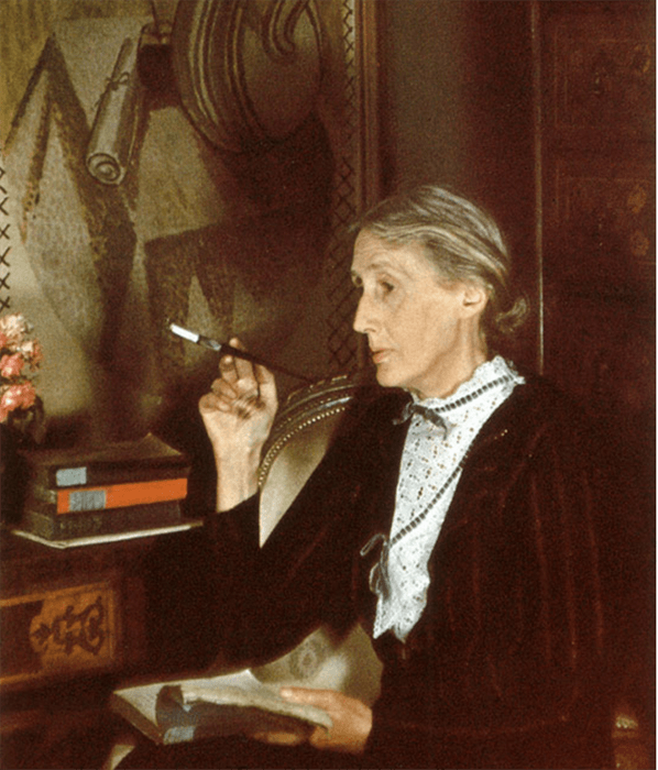A portrait of Virginia Woolf by Gisele Freund