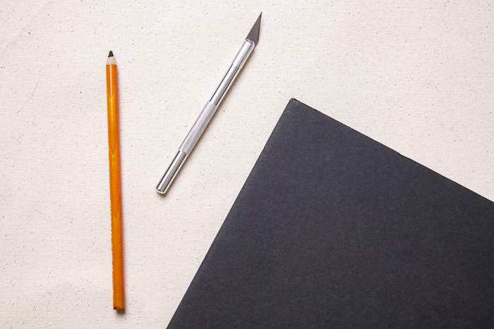 Materials for cutting out shapes from a foam board