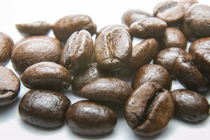 A close up photo of coffee beans