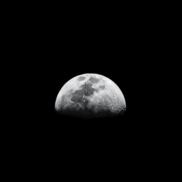 Foto deslumbrante da lua