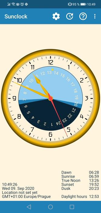 Screenshot of Sol: Sun Clock milky way application