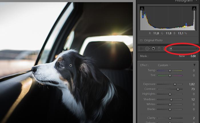 Uma captura de tela do reparo de foto superexposta