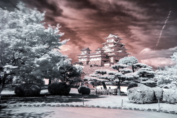 Infrared photo filter of the Himeji castle