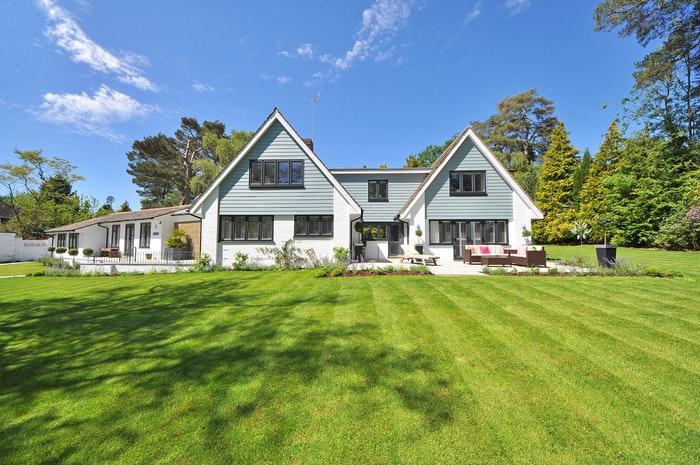 Beautiful exterior real estate photography shot