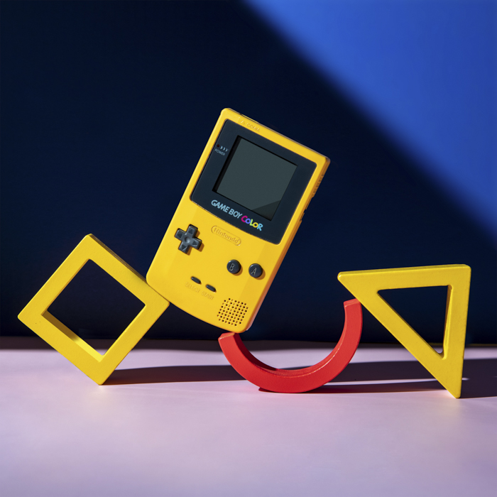 image of a yellow gameboy using an RGB profile