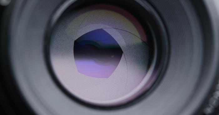 Camera lens aperture