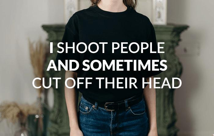 Photographer joke over a photo of a girl