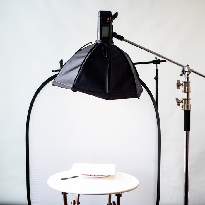 Lighting setup for 360 product photos
