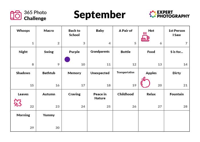 Desafio fotográfico de setembro