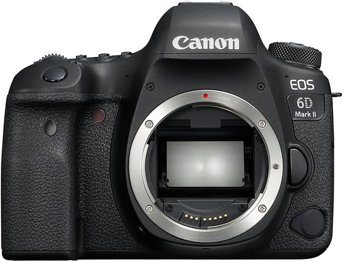 uma imagem do corpo de uma câmera Canon EOS 6D Mark II