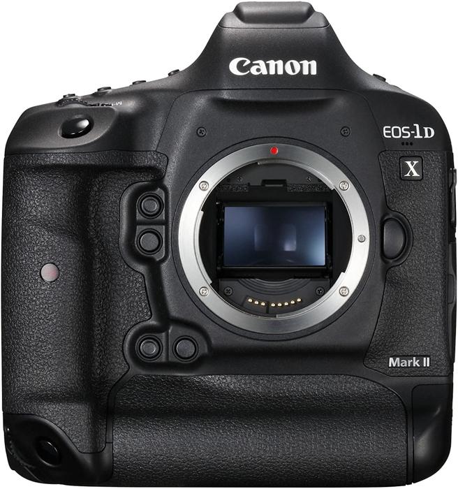uma imagem do corpo de uma câmera Canon EOS 1D X Mark II