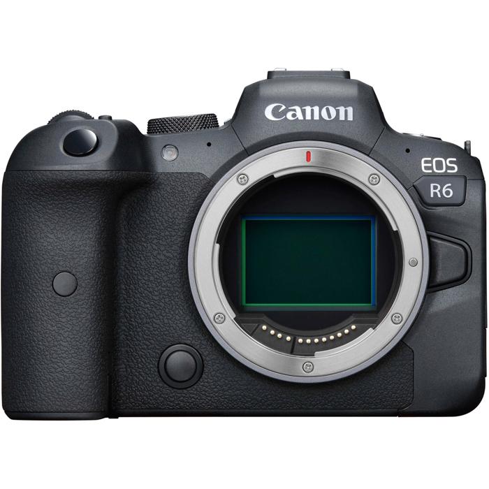 uma imagem do corpo de uma câmera full-frame Canon EOS R6