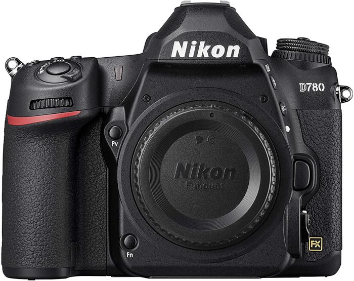 uma imagem do corpo de uma câmera Nikon D780