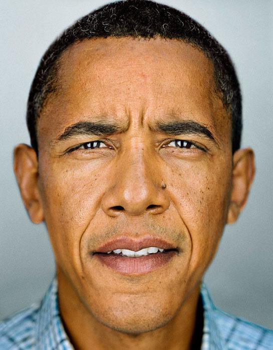 Um close de Barack Obama