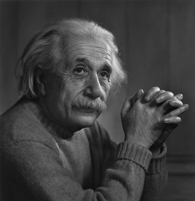 Retrato de Albert Einstein