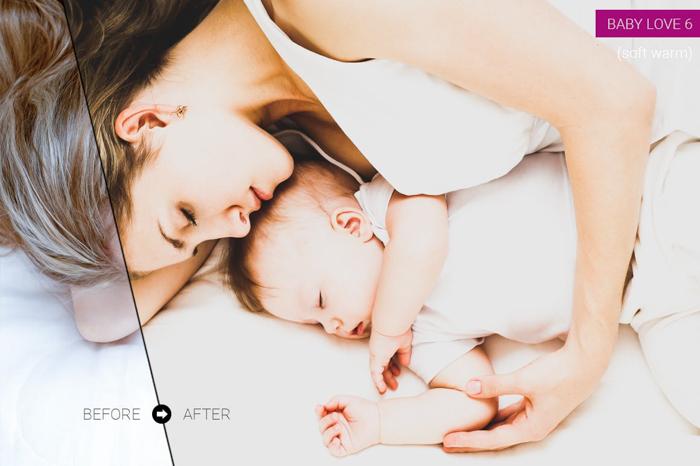Foto de mãe e filho editada com as predefinições gratuitas do Lightroom do TemaPhoto