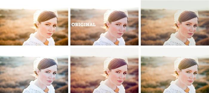 Retrato nupcial antes e depois de Super Preset Sample Pack Lightroom Preset Editions