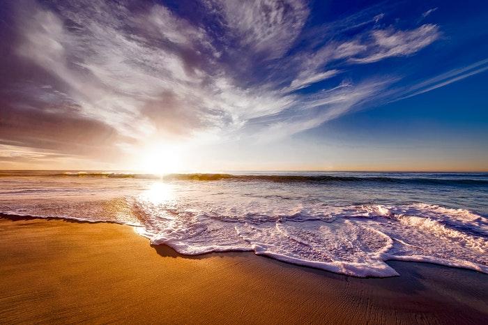 Uma bela cena de praia de HDR.